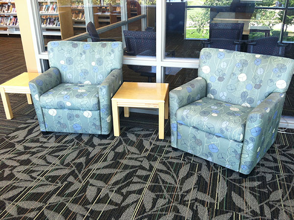 Upholstered Furniture in Library